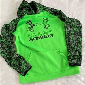 Under Armour Coldgear Neon Green Hoodie size YXL